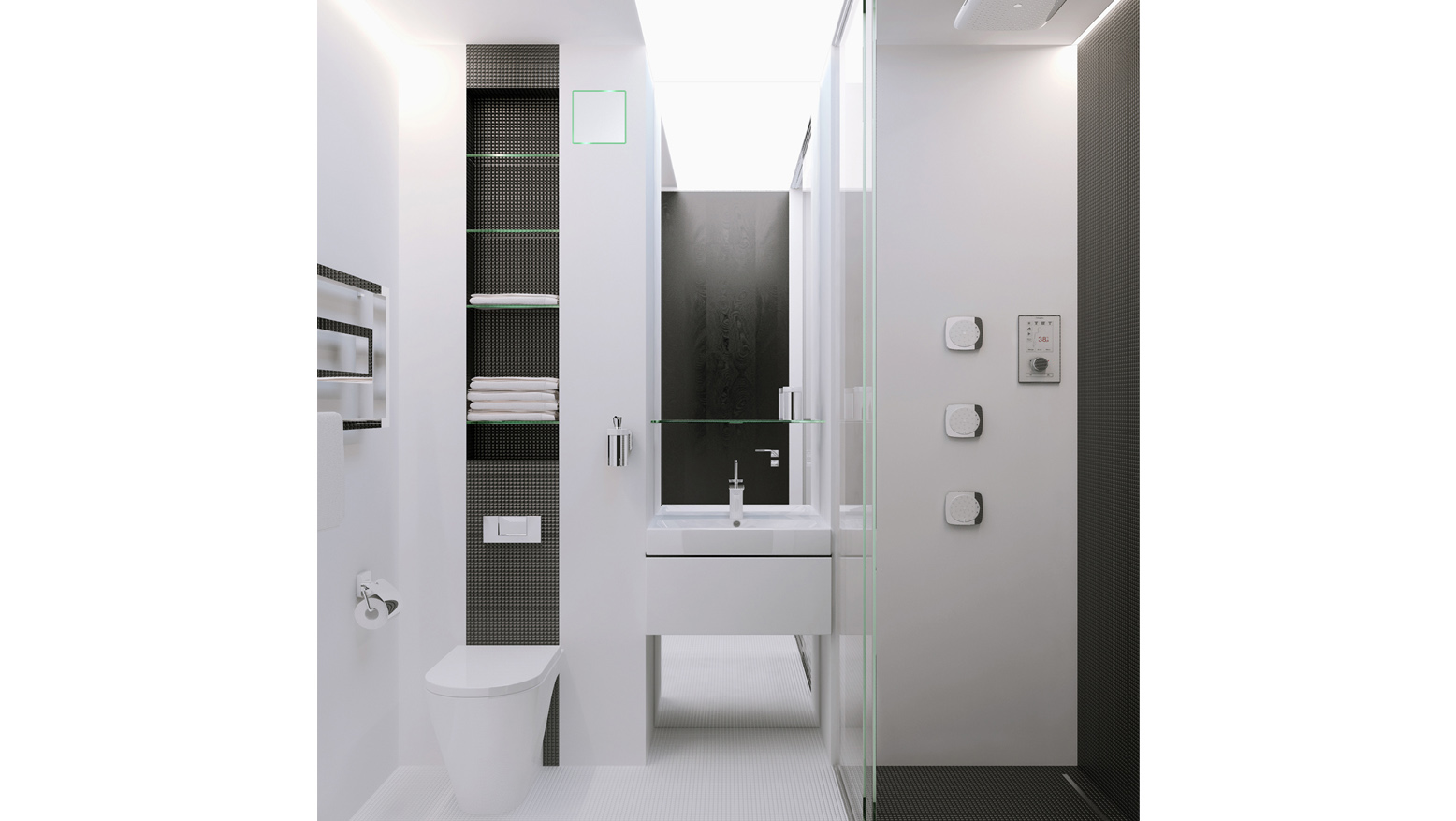 Modern bathroom exhaust venti invisible wall mounted fan - Invisible Fan Wall Mounted